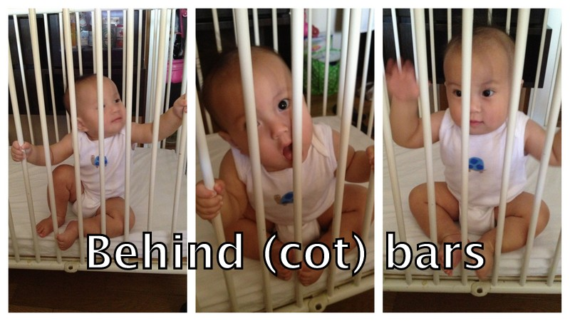 Behind Cot Bars