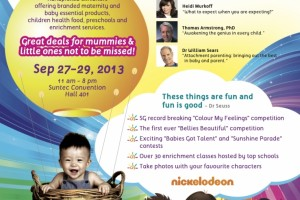 Giveaway: Rise & Shine Expo Tickets for 'Raising Sociable and Intelligent Baby' and 'Raising a Healthy and Happy Baby'