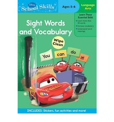 Disney Cars Sight Words