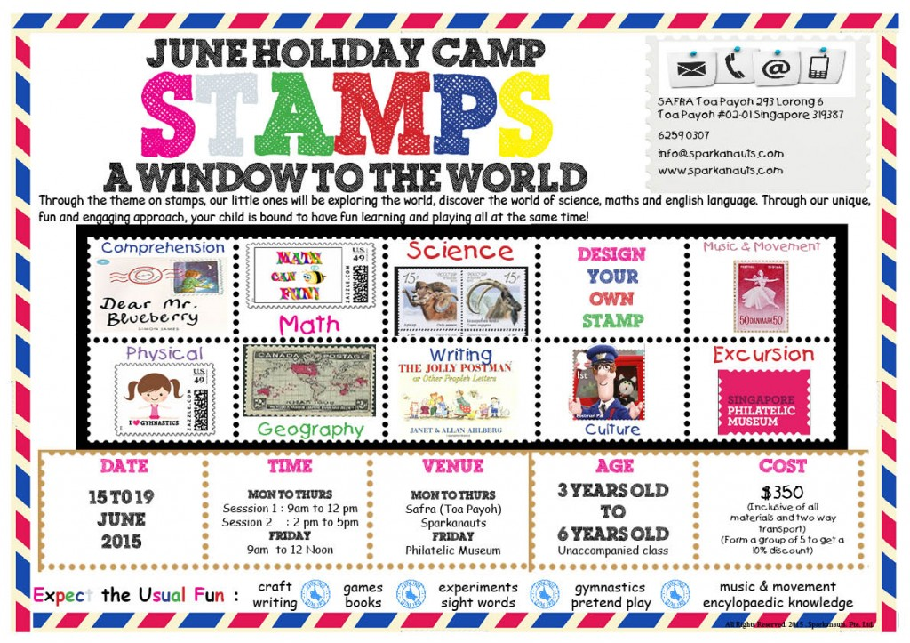 Stamps Around The World Poster