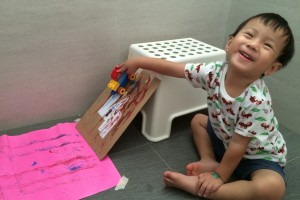 Homeschooling Fun: Duplo Car Ramp Painting