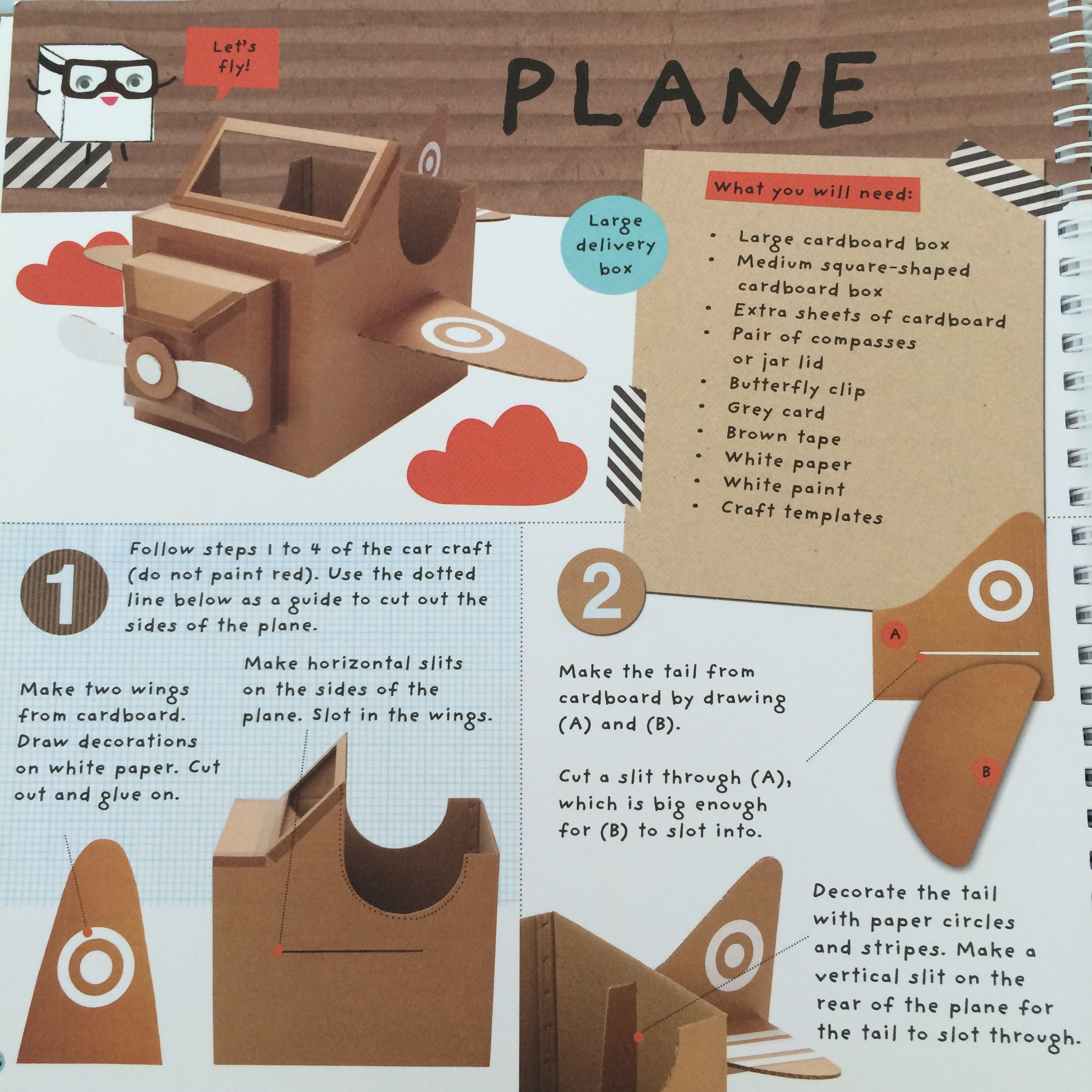 Diy cardboard aeroplane for How to make a cardboard box car that moves