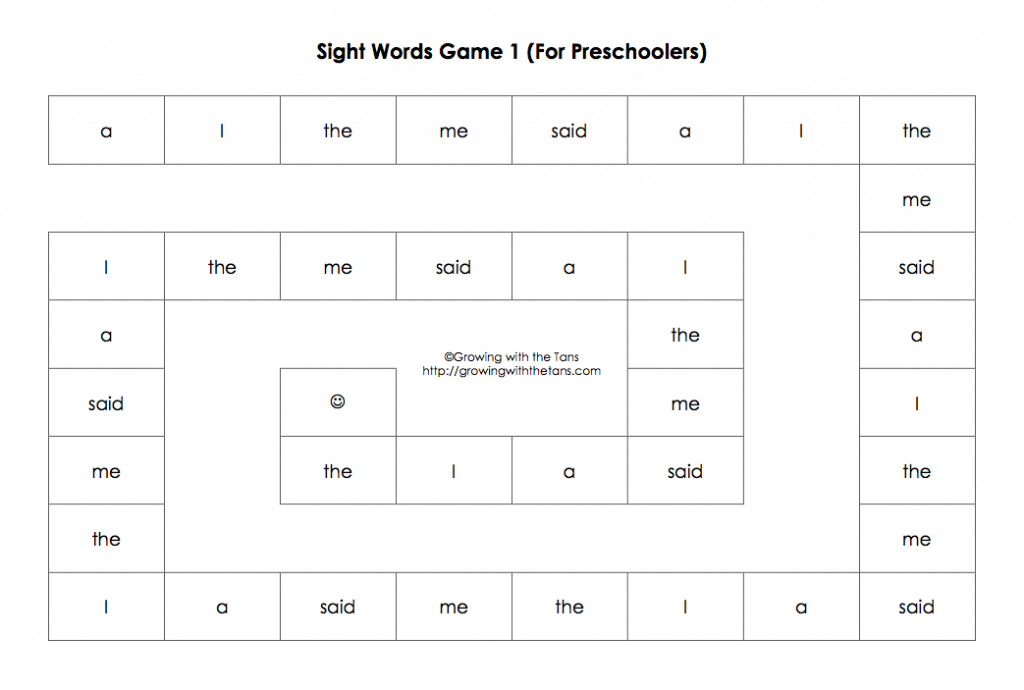 Sight Words Game 1