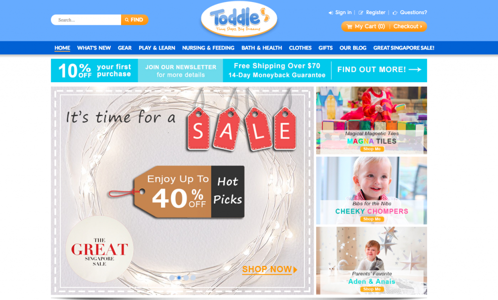 Toddle Homepage