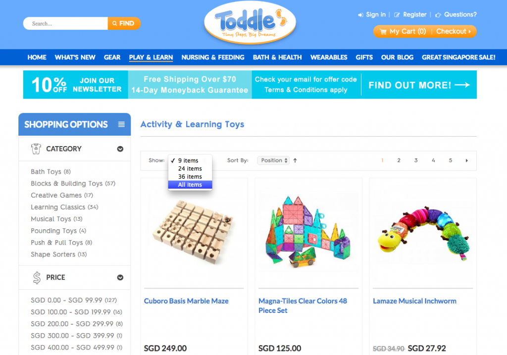 Toddle Show All