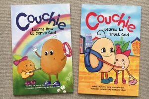 Friday Flips #78: Couchie Learns to Trust God & Couchie Learns How to Serve God (Plus Giveaway!)